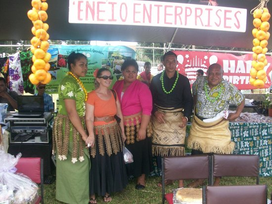 Ene'io Botanical Garden : Our team at 'Ene'io Booth during the Vava'u Agricultural Show