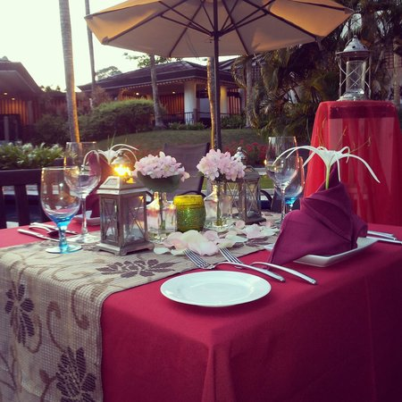 Oasis: Table Set Up For Candle Light Dinner