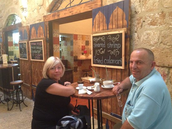 Kukushka - Premium snack bar: My wife and I ending a great meal with coffee.