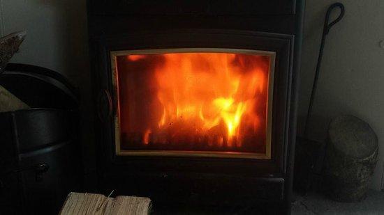 Greyfield Farm Cottages: Log burner (Byre Cottage)