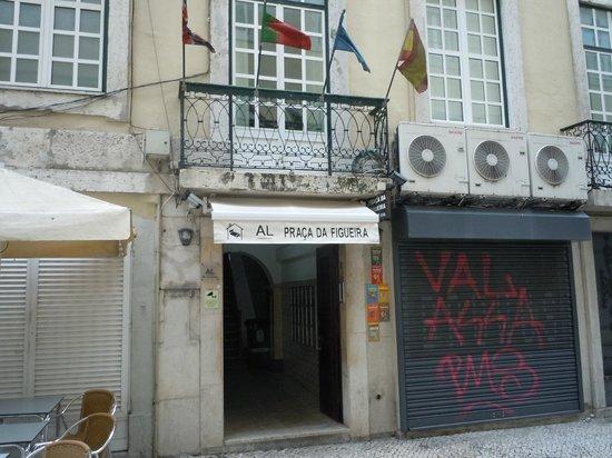 Street level entrance of Pensao Praca da Figueira