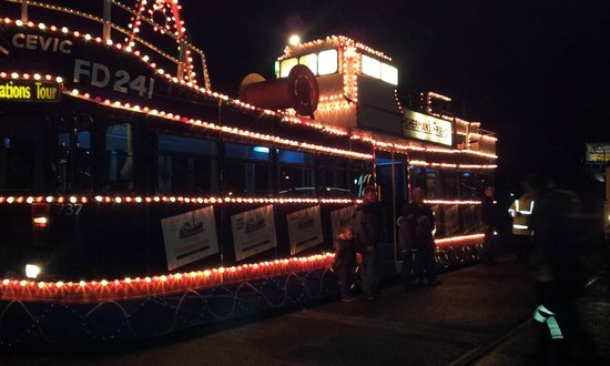Blackpool Tramway: 'Fisherman's Friend' Illuminated Tram