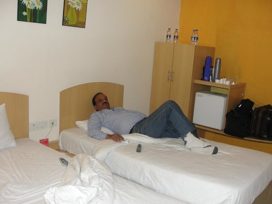 Ginger Nashik : My Elder Brother Relaxing after Drive from Baroda to Nasik