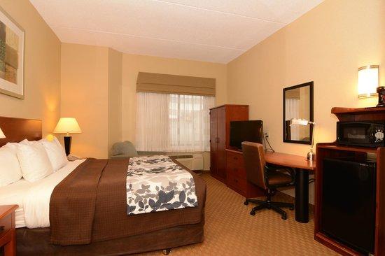 Sleep Inn & Suites Rehoboth Beach : King Room with 32 inch Flat Screen TV