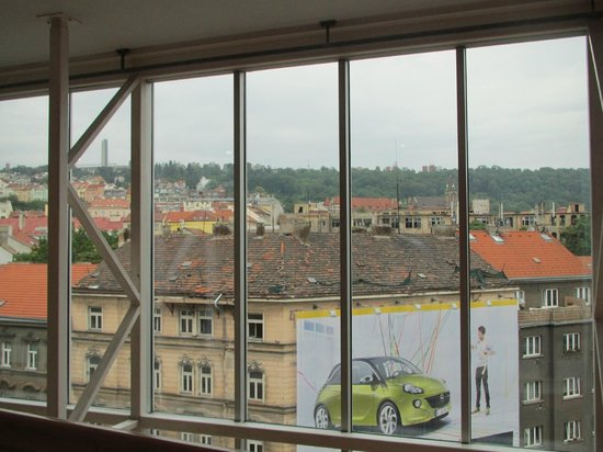 NH Prague City: The view from the window at the common area near the lift.