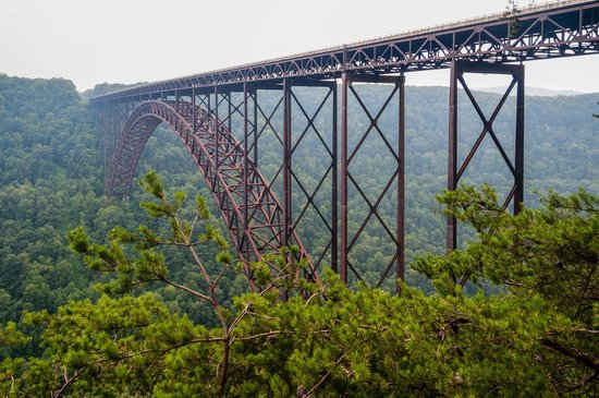 New River Gorge Bridge: View from Cayon Rim Visitor Center