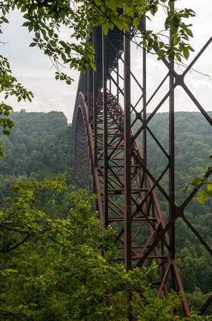 New River Gorge Bridge: Near the Base on Fayette Station Rd