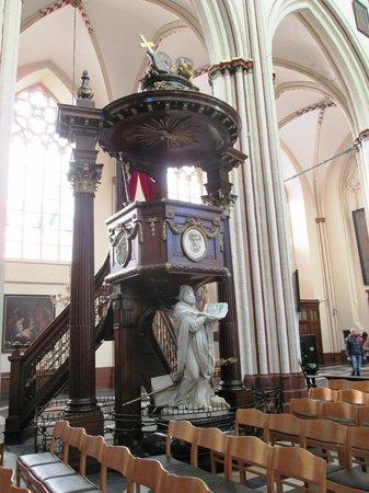 Pulpit Holy Savior Cathedral (Sint-Salvatorskathedraal)
