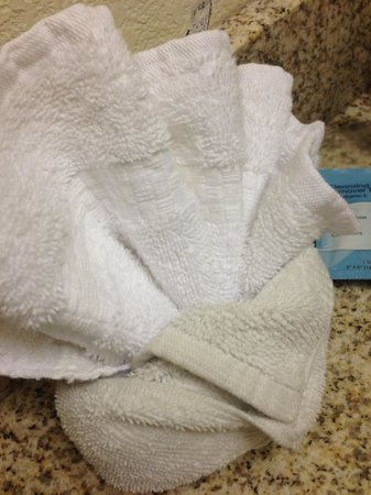 Residence Inn Bozeman: Yes that is a dingy dirty washcloth wrapped around a bright clean one.