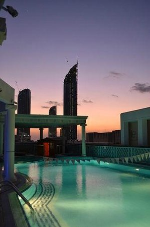 Crowne Plaza Hotel Abu Dhabi: Relax with a dip in the rooftop pool!