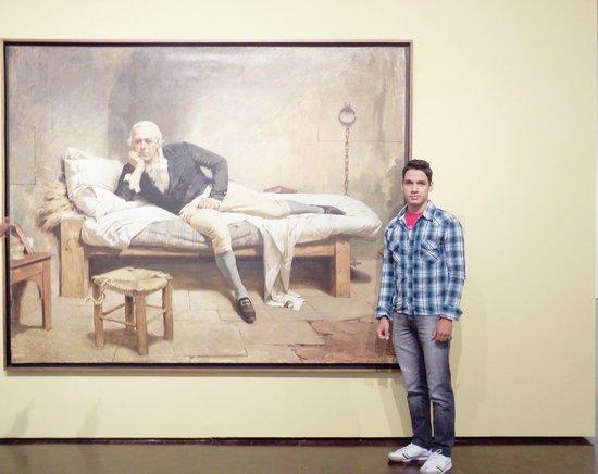 Museo de Bellas Artes: O pintor em que estava sendo exposto suas obras no museu