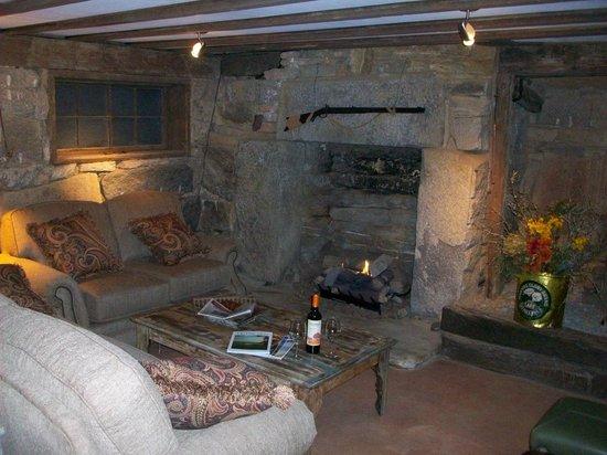 The York House Inn: Basement bar and social area