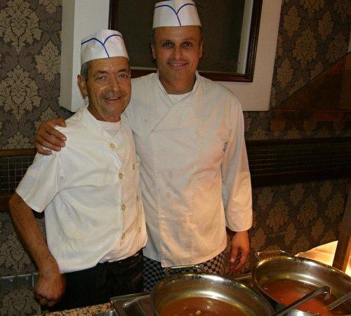 Pavlo Napa Beach Hotel: Two of the great cooks in Pavlo Napa Hotel
