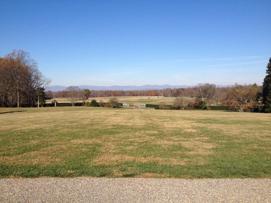 James Madison's Montpelier: vast grounds, looking at the horse training area