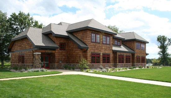 Lake AuSable Lodge at Forest Dunes Golf Club: Front exterior of Lake AuSable Lodge.