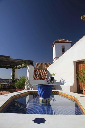 Hotel Los Castanos: Dachterasse