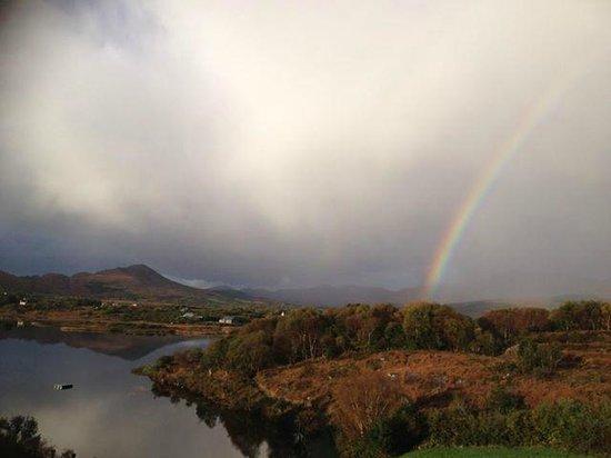 Sneem Hotel: Magical morning rainbow
