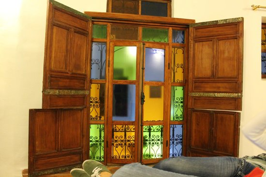 Riad Rocco: The beautiful window in our suite