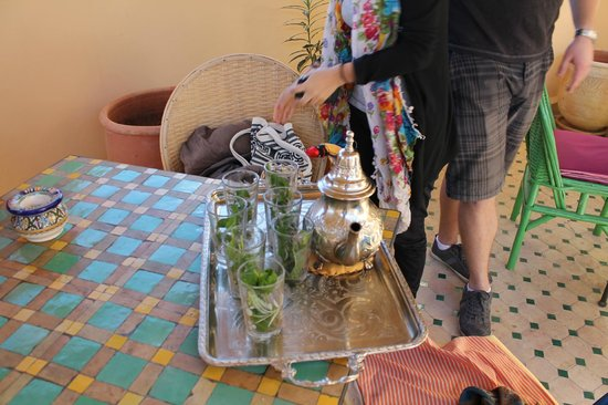 Riad Rocco : They welcomed us with Mint Tea