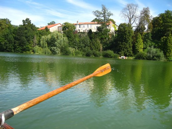 Domaine du Chatelard: View of Le Chatelard from their boat on the lake