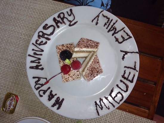 Occidental Nuevo Vallarta : This is the plate Erik made for us, on our anniversary!