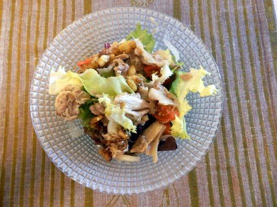 Restaurante Zeitum: Ensalada con perdiz escabechada