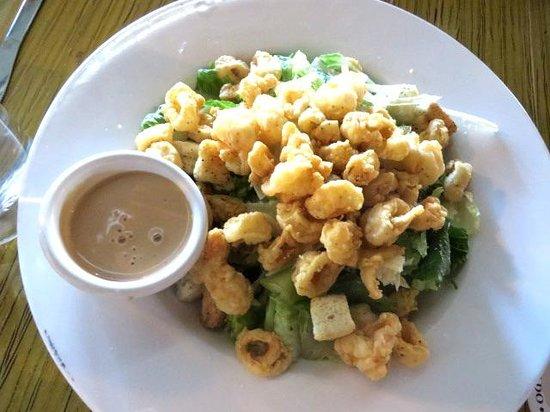 the hornet restaurant: caesar salad with shrimp and calamari