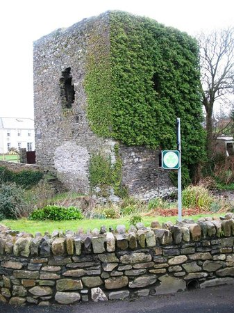 Old Castle House : Norman Castle Ruins at Entrance to Property