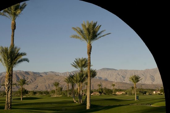 The Arches at The Borrego Springs Resort: View from a couch outside The Arches bar
