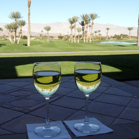 The Arches at The Borrego Springs Resort: Enjoy a generously-poured glass of Chardonnay