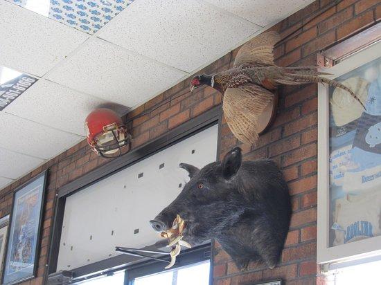 Kyle Fletcher's BBQ & Catering: Boars head by door