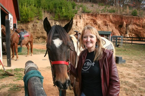 Cherokee Valley Ranch: Horseback Riding- This is Cherokee and he is very tame.