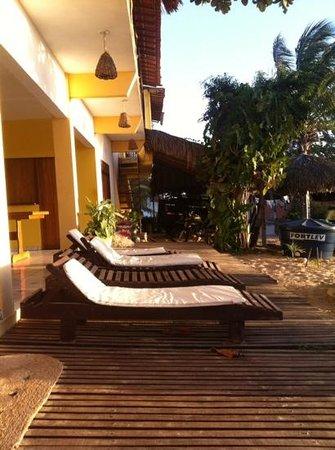 Pousada Por do Sol: veranda esterna