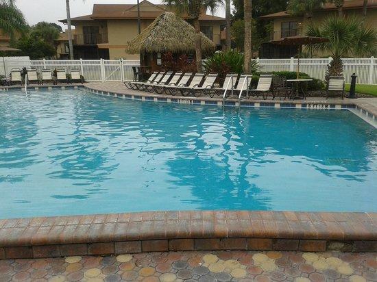 Liki Tiki Village: view one of heated salt water pool near lobby