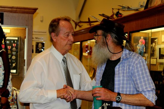 West Monroe, LA: Judge Stout with Uncle Si at the Chennault Museum
