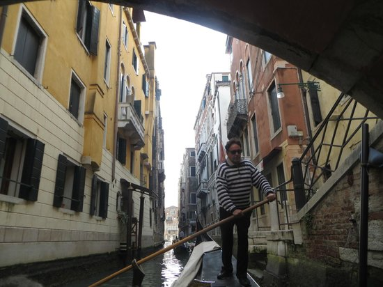 "Hotel Danieli, A Luxury Collection Hotel : A ""street"" in Venice with our gondolier."