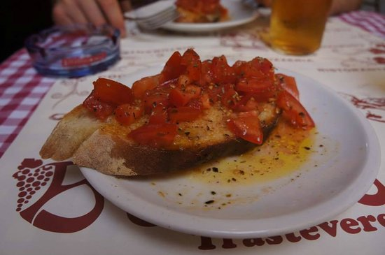 Baccanale Trastevere : Best bruschetta ever....so fresh and tasty!