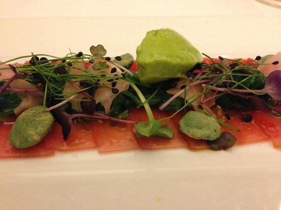 Terrassenhotel: Tuna carpaccio