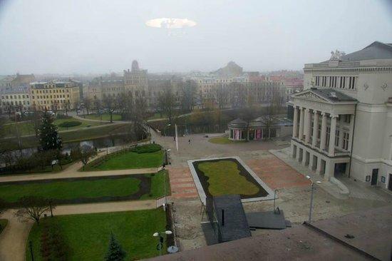 Grand Hotel Kempinski Riga: Вид из номера