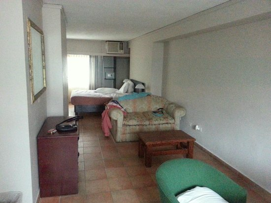 Tower House Suites: room, large good to work, window both side and small kitchen, 2 floor