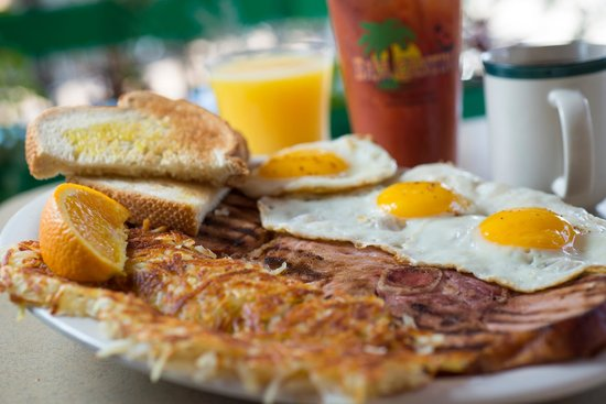 The Keg & Patio : Who doesn't love breakfast and bloody's when they're on vaca
