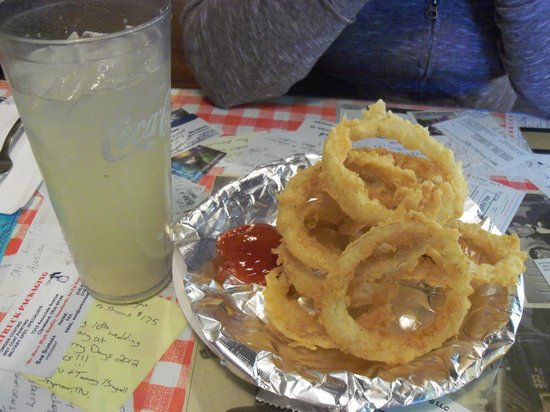 Onion rings at the Bluebird Diner