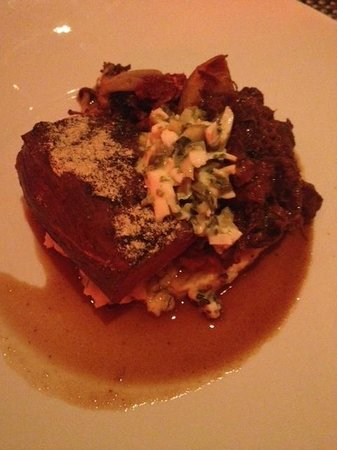 Restaurant Toast! : Foie gras de la ferme du Canard Goulu poêlé et bedaine de porc Nagano croustillante