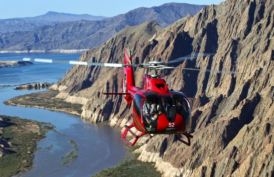 Grand Canyon Helicopters - Grand Canyon National Park: Flying over Lake Mead near our operation in Las Vegas.
