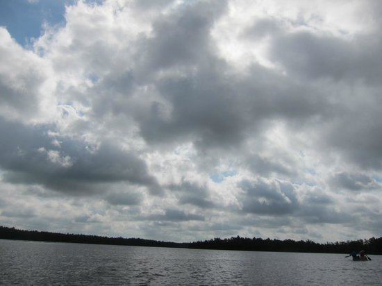 Micks Pine Barrens Canoe and Kayak Rental : Clouds across the lake