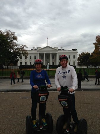 City Segway Tours DC: Outside the Whitehouse