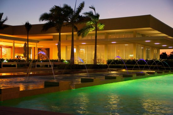 club house pool and terrace at night picture of karibana