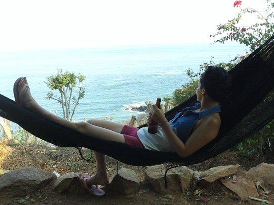 Cabanas Balamjuyuc: La vista, la brisa , la bebida, el arrullo del mar y la relajación