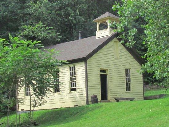 Meadowcroft Rockshelter and Historic Village: School House at Meadowcroft Historic Village - August 8, 2013