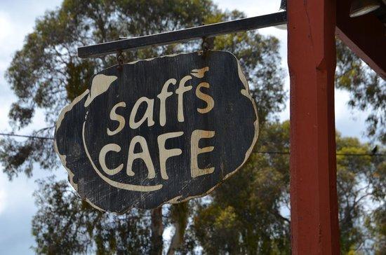Saff's Cafe: Saff's street sign